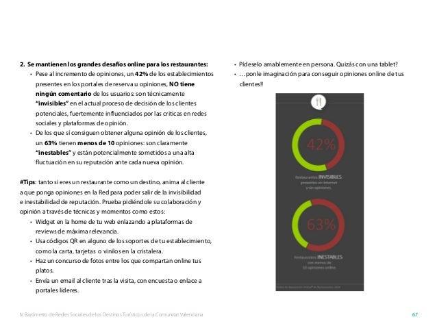IV Barómetro de Redes Sociales de los Destinos Turísticos de la Comunitat Valenciana 67 2. Se mantienen los grandes desaf...