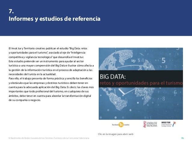 IV Barómetro de Redes Sociales de los Destinos Turísticos de la Comunitat Valenciana 76 7. Informes y estudios de referenc...