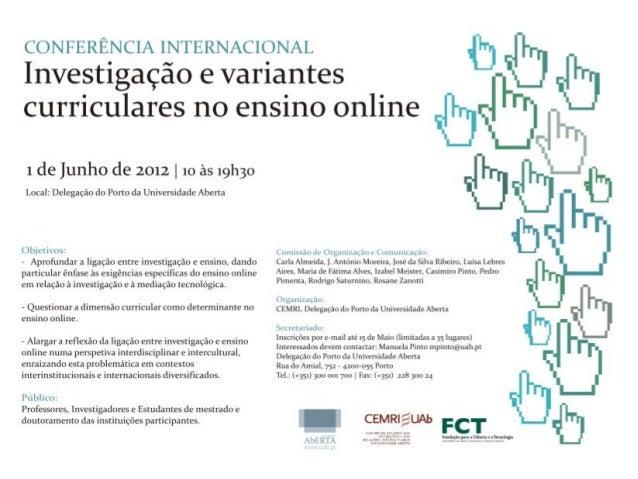 Modelo de Bolonha e Gestão do tempo de estudo MESA 1 – Investigação e Ensino on-line 1 de Junho de 2012 Pedro C. C. Piment...