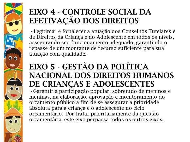 EIXO 4 - CONTROLE SOCIAL DA EFETIVAÇÃO DOS DIREITOS                                   -  L...