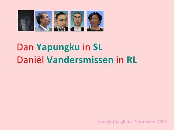 Dan  Yapungku  in  SL Daniël  Vandersmissen  in  RL Hasselt (Belgium), September 2009