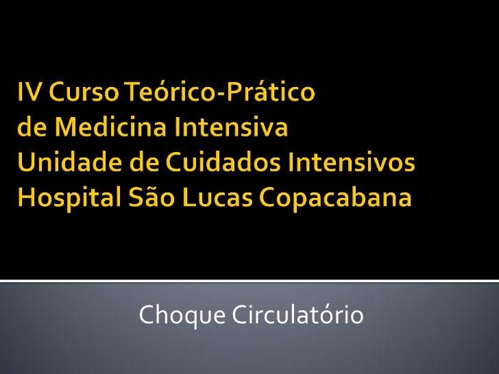 Choque Circulatório