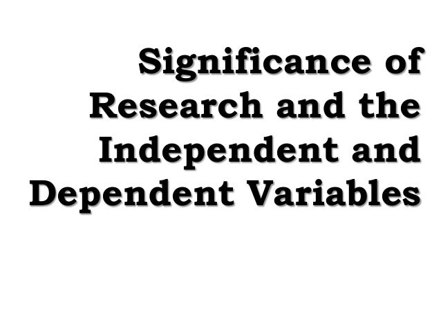 dependent variable research paper