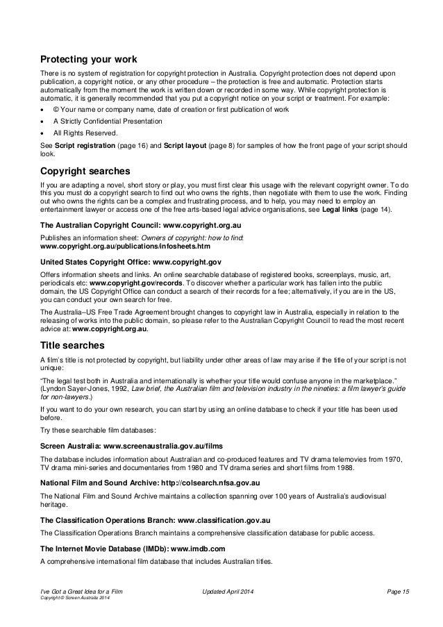 Screen Australia Info Guide