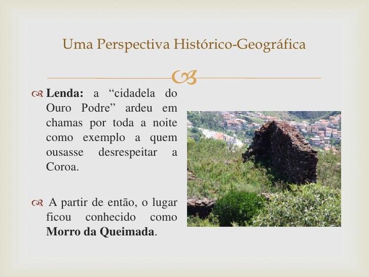 """Uma Perspectiva Histórico-Geográfica Lenda: a """"cidadela                                                   do  Ouro Podre..."""