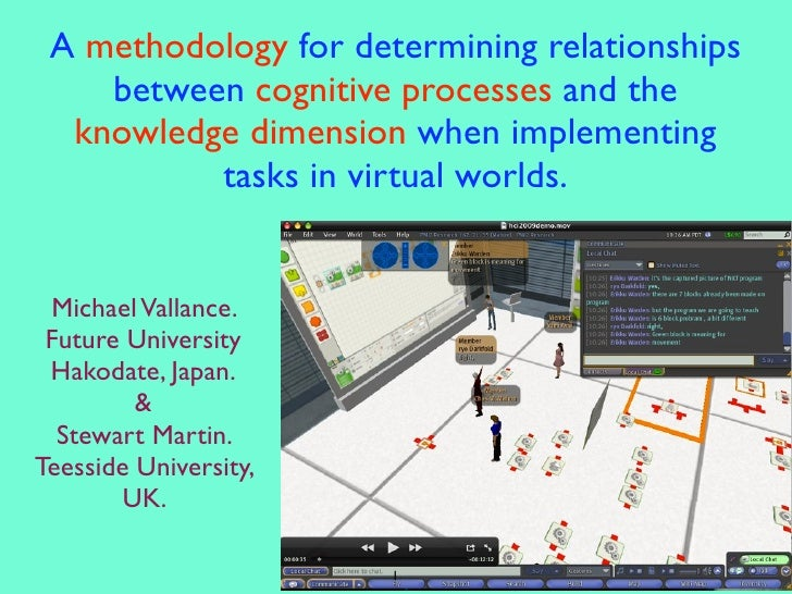 A methodology for determining relationships     between cognitive processes and the   knowledge dimension when implementin...