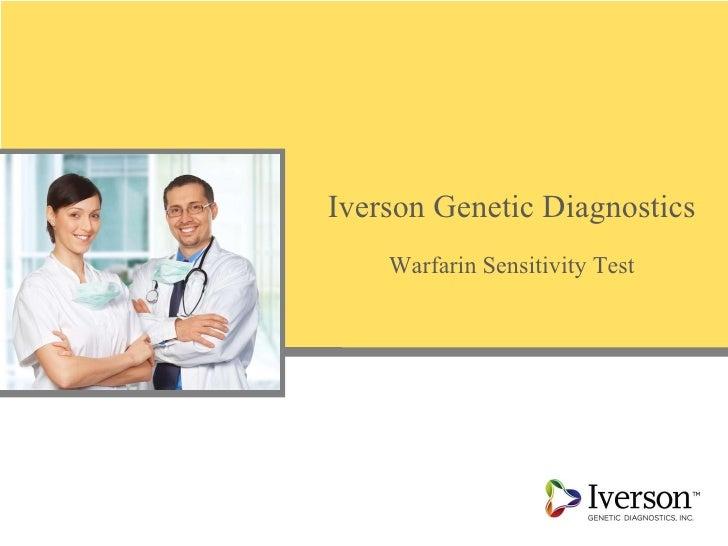 Iverson Genetic Diagnostics Warfarin Sensitivity Test