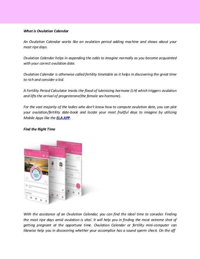 IVF apps | Ela Ovulation Tracker | ElaWoman