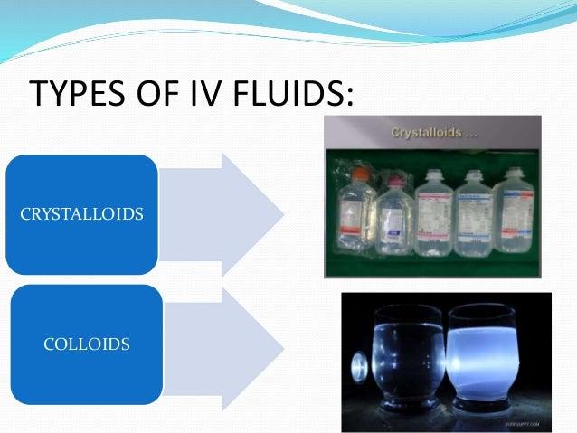 Iv fluids TYPES OF IV FLIUDS