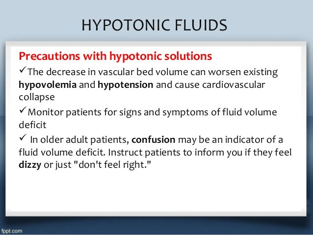 Iv Fluid Therapy Types Indications Doses Calculation