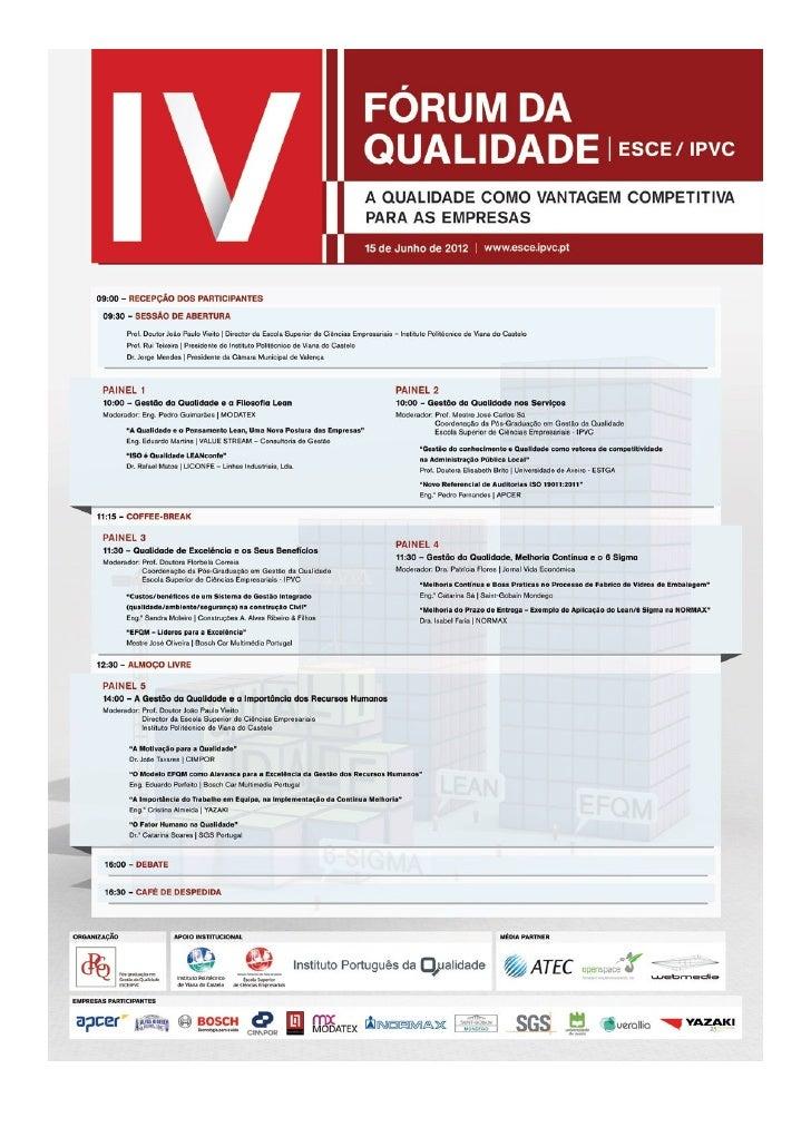 Iv fórum da qualidade esce ipvc (programa)