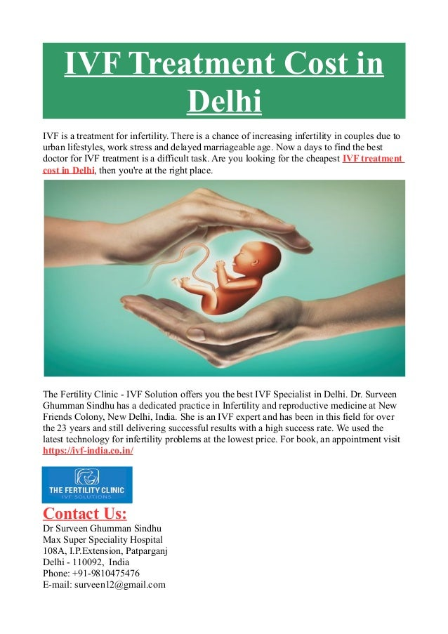 IVF Treatment Cost in Delhi IVF is a treatment for infertility. There is a chance of increasing infertility in couples due...