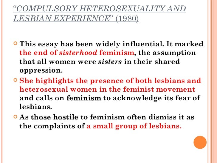 Compulsory heterosexuality definition