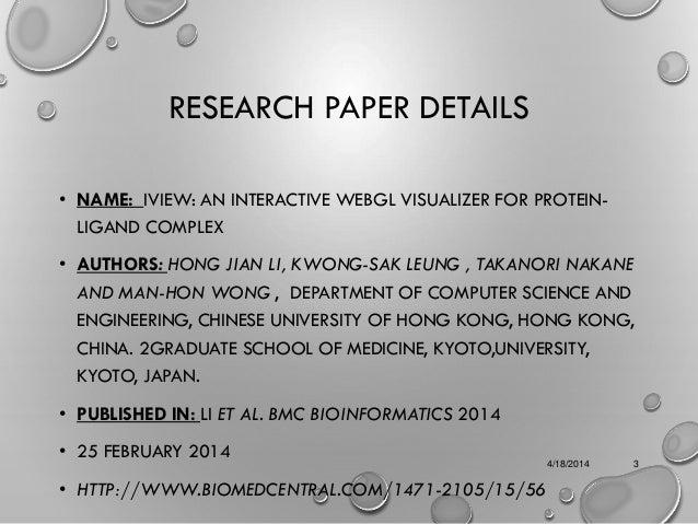 Iview bioinformatics tool  ....CADD/DOCKING Slide 3