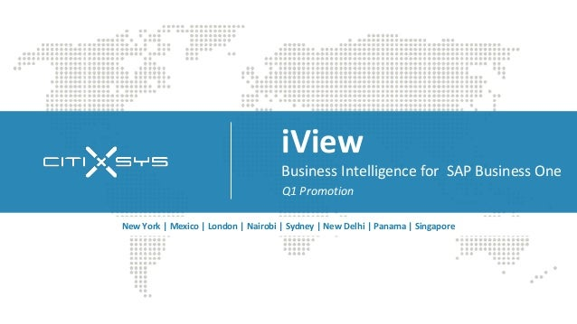 iView                                     Business Intelligence for SAP Business One                                     Q...