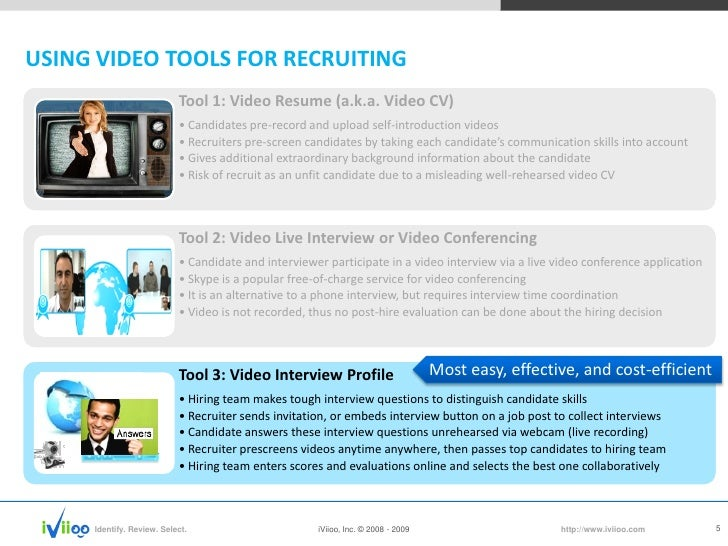 IViioo: Online Video Interview Services, Cloud Based Recruiting 2.0 Partner  Video Resume Website