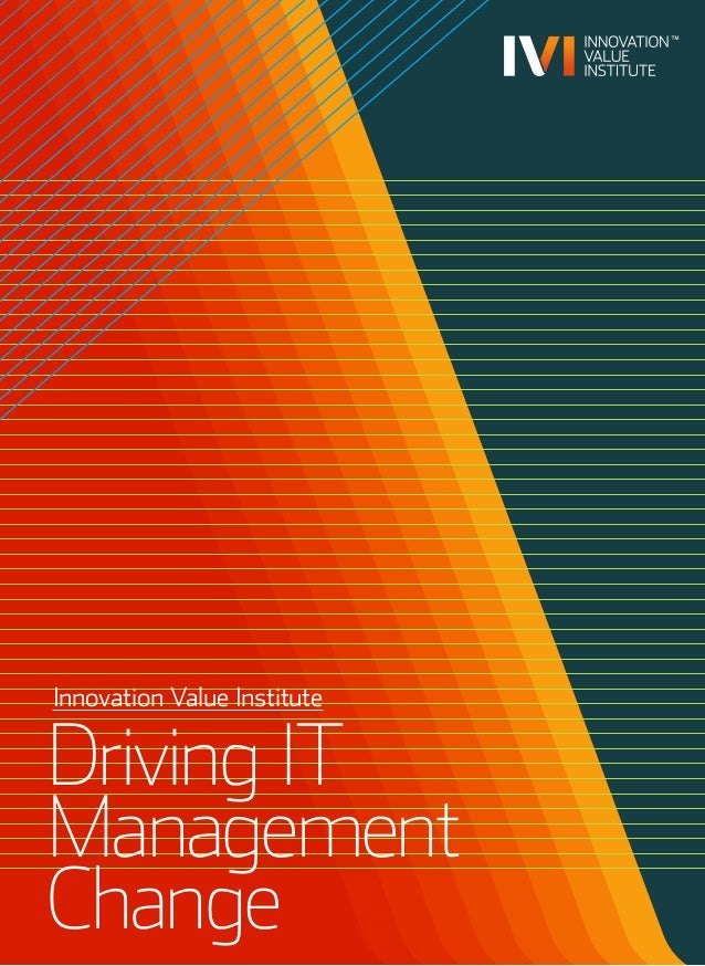 Innovation Value Institute Driving IT Management Change