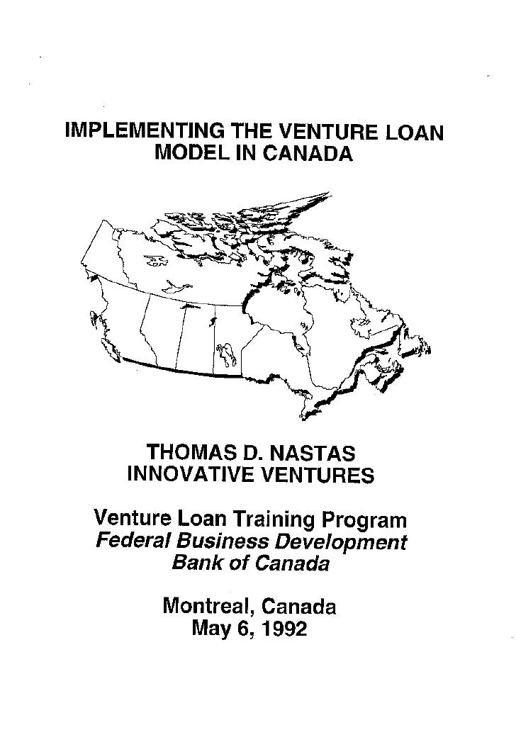 IVI Training Implementing The Venture Loan Model In Canada