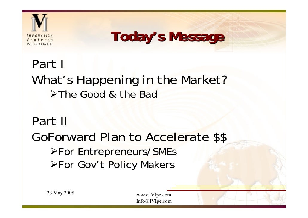 IVI Presentation at UNECE Conference, May 2008 Slide 2