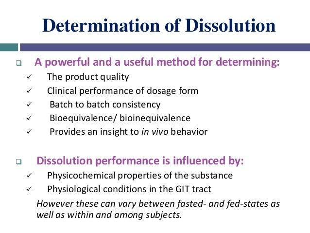 Factors Affecting Dissolution