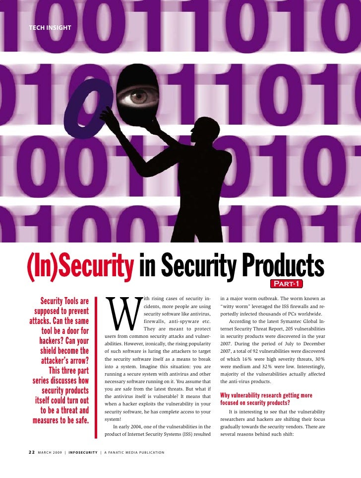 tech insight     (In)Security in Security Products                                                                        ...