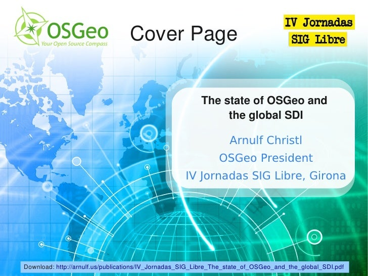 Cover Page                                                            The state of OSGeo and                              ...