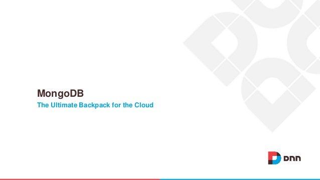 The Ultimate Backpack for the Cloud MongoDB