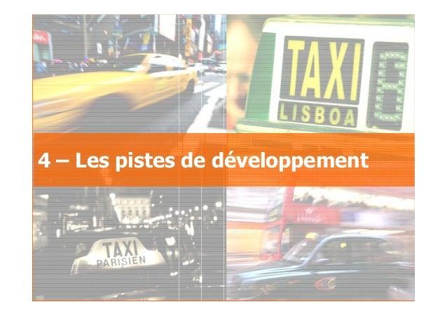 2007GfK Group Custom Research France Le taxi au sein des déplacements urbains 4 – Les pistes de développement