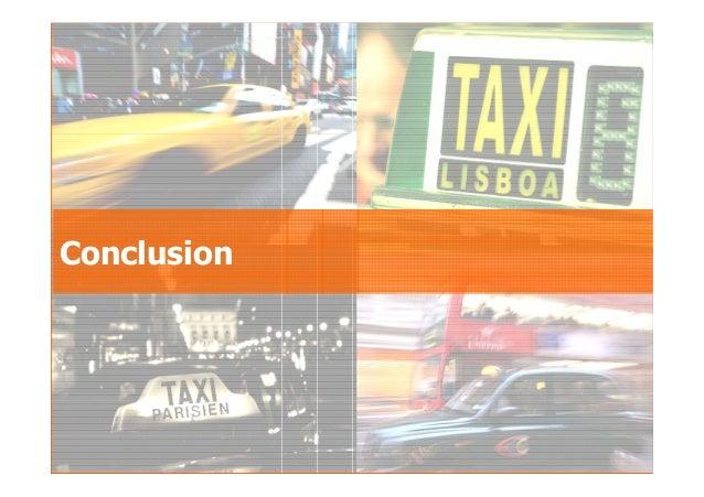 2007GfK Group Custom Research France Le taxi au sein des déplacements urbains Conclusion