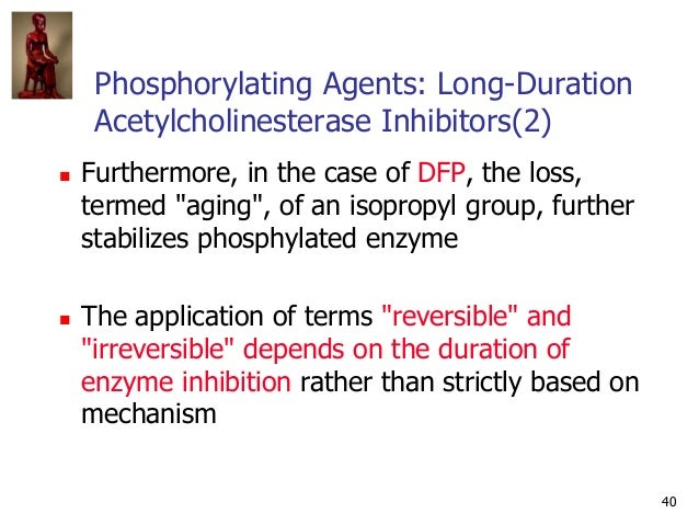 40 Phosphorylating Agents: Long-Duration Acetylcholinesterase Inhibitors(2)  Furthermore, in the case of DFP, the loss, t...
