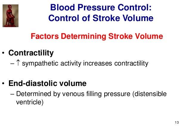 13 Factors Determining Stroke Volume • Contractility –  sympathetic activity increases contractility • End-diastolic volu...