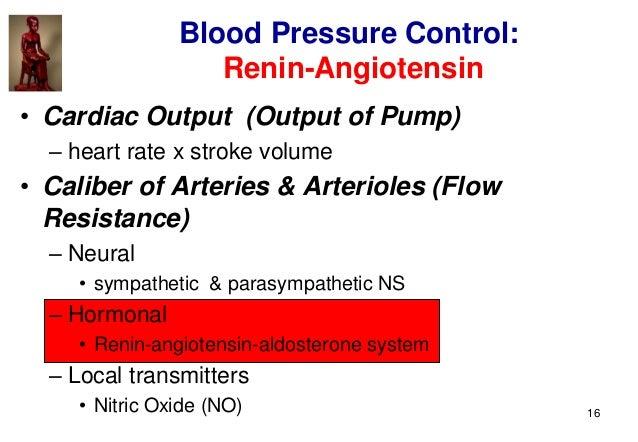16 • Cardiac Output (Output of Pump) – heart rate x stroke volume • Caliber of Arteries & Arterioles (Flow Resistance) – N...