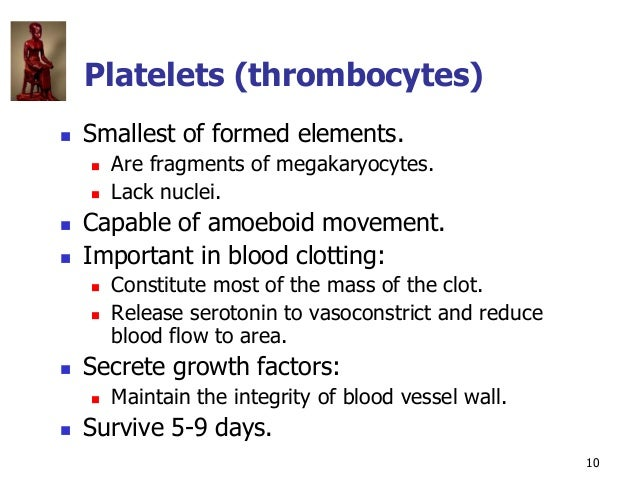 Copyright © The McGraw-Hill Companies, Inc. Permission required for reproduction or display. 10 Platelets (thrombocytes) ...