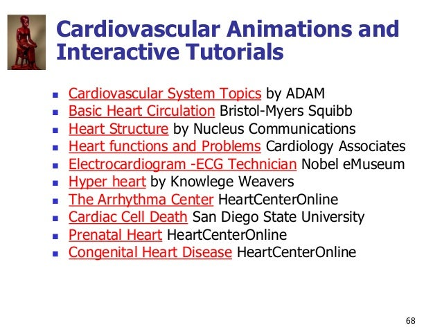 Copyright © The McGraw-Hill Companies, Inc. Permission required for reproduction or display. 68 Cardiovascular Animations ...