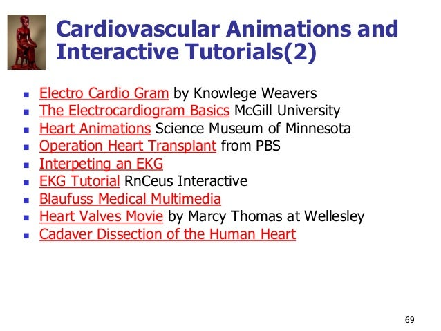 Copyright © The McGraw-Hill Companies, Inc. Permission required for reproduction or display. 69 Cardiovascular Animations ...