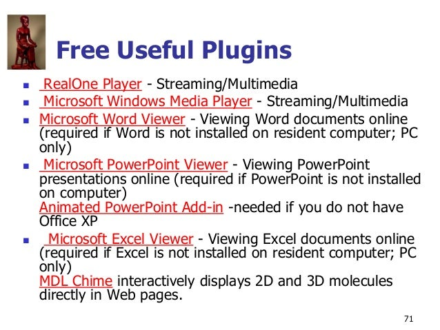 Copyright © The McGraw-Hill Companies, Inc. Permission required for reproduction or display. 71 Free Useful Plugins  Real...