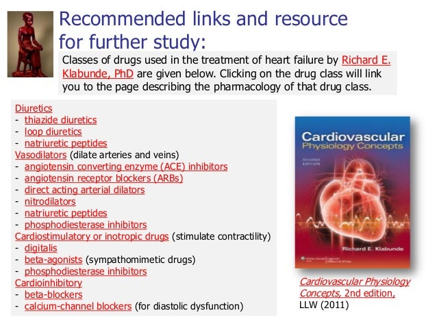 Recommended links and resource for further study: Cardiovascular Physiology Concepts, 2nd edition, LLW (2011) Diuretics - ...