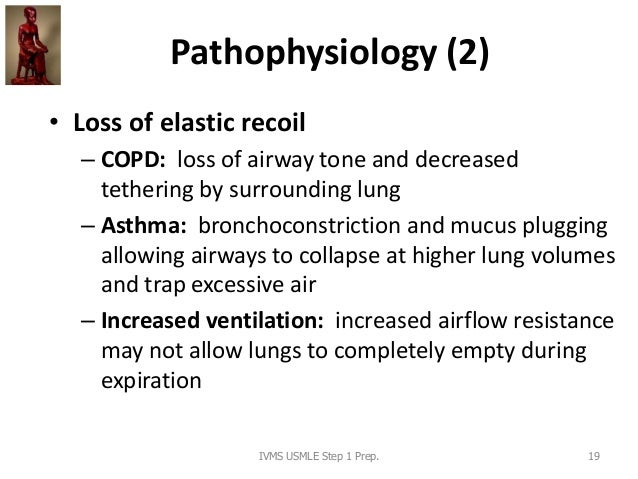 Pathophysiology (2) • Loss of elastic recoil – COPD: loss of airway tone and decreased tethering by surrounding lung – Ast...