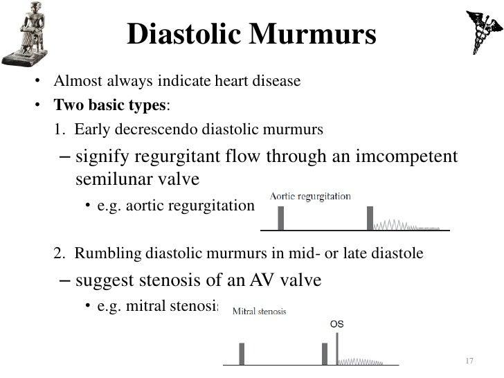 Ventricular septal defect 16; 17. Diastolic Murmurs• Almost always indicate  heart ...