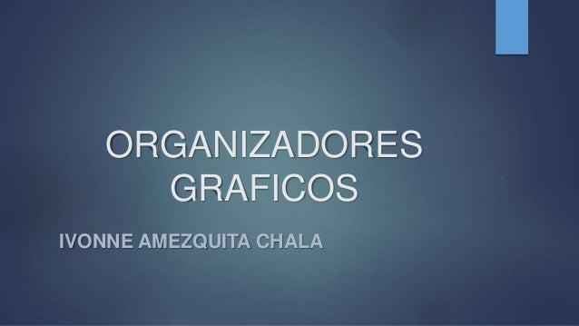 ORGANIZADORES GRAFICOS IVONNE AMEZQUITA CHALA
