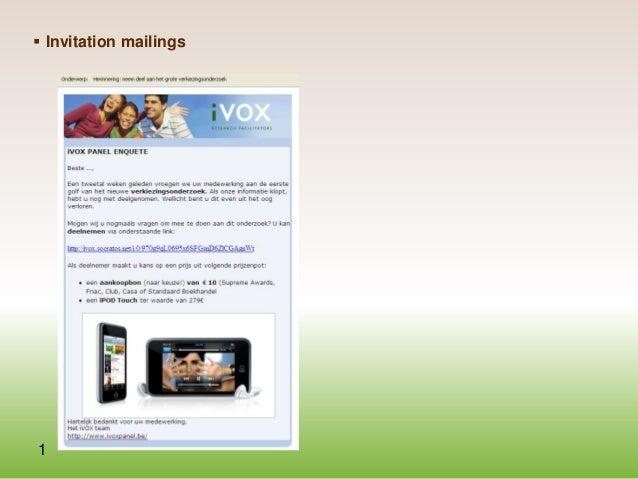  Invitation mailings  1