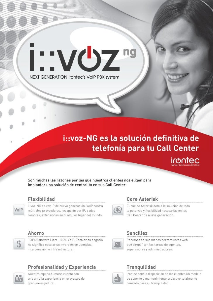 Catálogo comercial i::voz-NG Call Center Edition