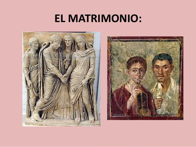 Formula Matrimonio Romano : Familia educación y matrimonio en roma