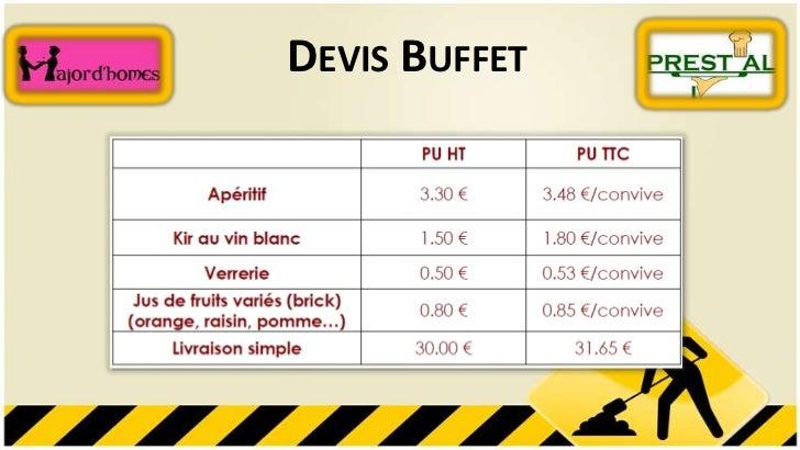 DEVIS BUFFET