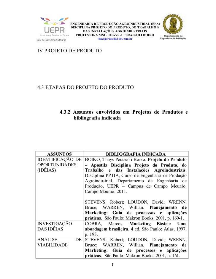 ENGENHARIA DE PRODUÇÃO AGROINDUSTRIAL (EPA)                                                                            DIS...