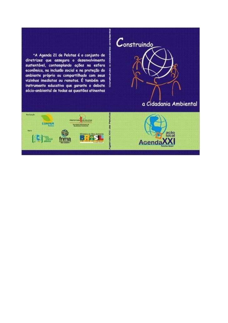 AGENDA 21 DE PELOTAS  Construindo a Cidadania Ambiental           Pelotas - 2004