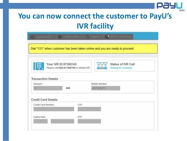 Ivr payment method