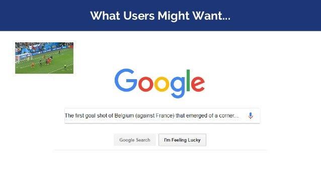 What Users Might Want...