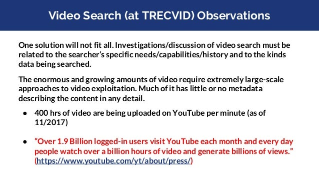 Video Search (at TRECVID) Observations Multiple information sources (text, audio, video), each errorful, can yield better ...