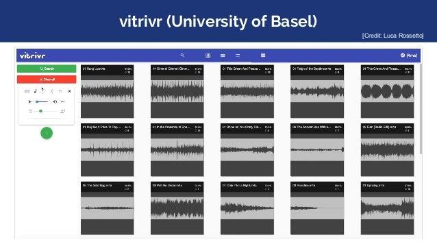 vitrivr (University of Basel) [Credit: Luca Rossetto]